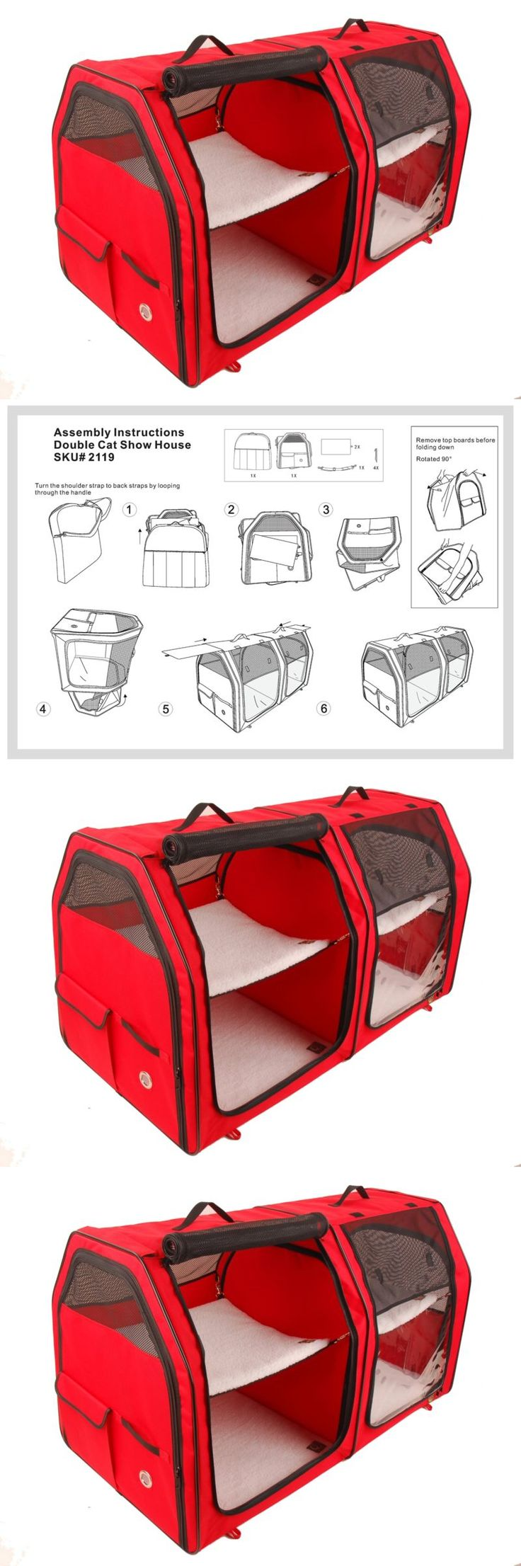 Carriers and Crates 116362: One For Pets Double Cat Show House Portable Dog Kennel Shelter, Red, 24?X2 -> BUY IT NOW ONLY: $149.38 on eBay!