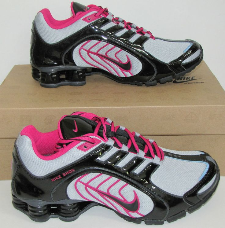Womens Nike Shox Navina Wolf gry Sneakers Sz 7 Cross Training Shoes 356918  096 #Nike