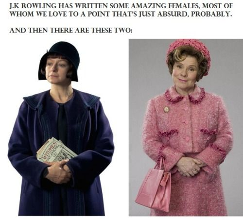 Mary Lou Barebone and Dolores Jane Umbridge. Harry Potter and Fantastic beasts and where to find them. The two ladies the fandom pretty much hates!