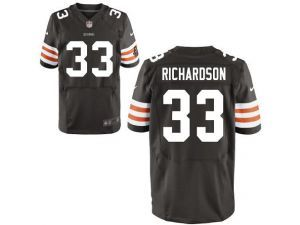 nike nfl elite browns 33 trent richardson brown team color mens stitched jersey