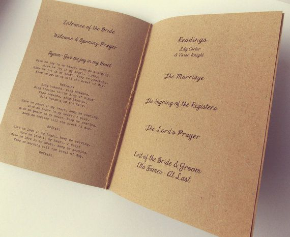 Order of Service Booklets with insert pages & by FromLeoniWithLove