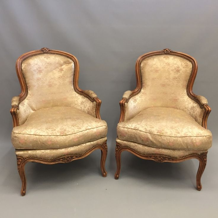 PAIR OF FRENCH TUB ARMCHAIRS