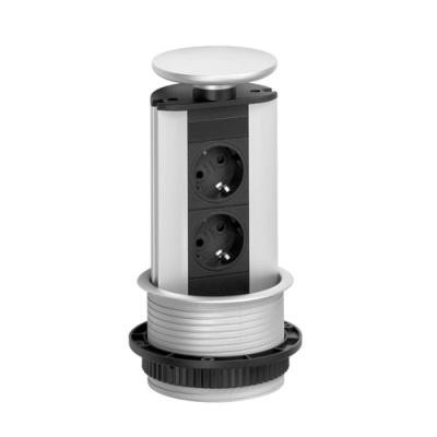 port met RVS deksel diameter boorgat 102mm