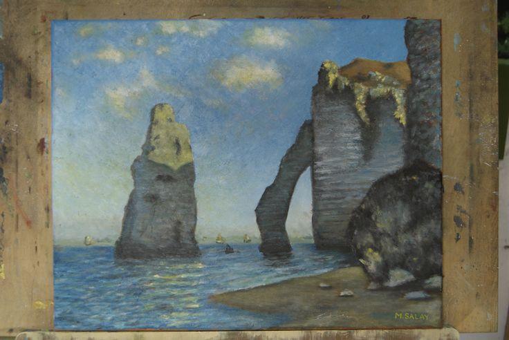 replika od C. Moneta olejomalba - oil painting replica from C. Monet