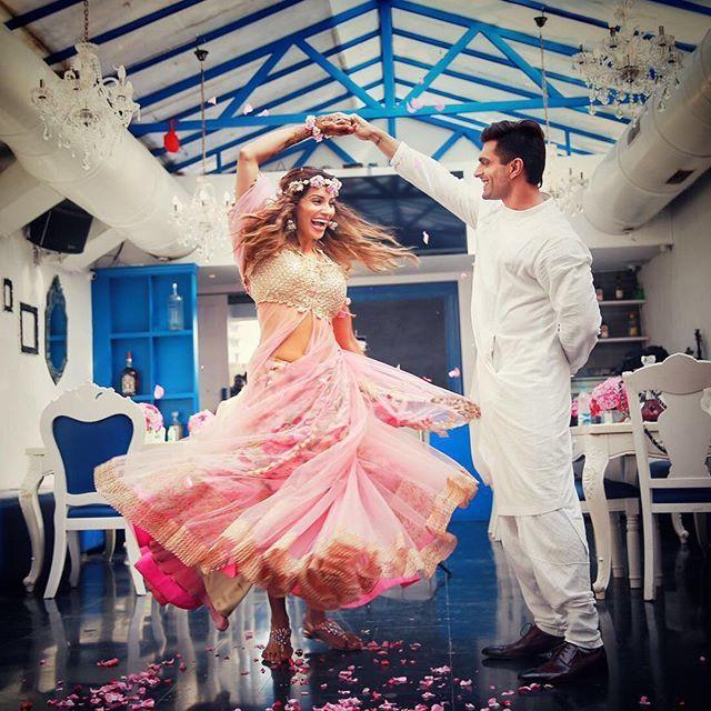 """My crazy bundle of joy...❤️"" Bipasha Basu & Karan Singh Grover Share Adorable Pictures of their Pre-Wedding Ceremonies (April end, 2016)"