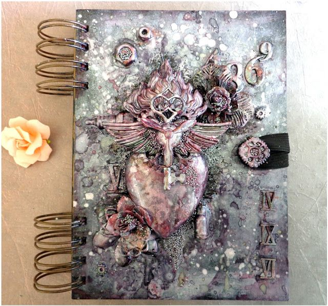 Art Journal Cover with Step-By-Step Tutorial - by Jacqueline Moore