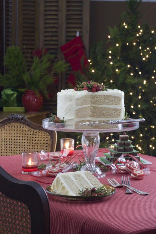 Sugar-and-Spice Cake - White Christmas Dessert Ideas - Southernliving. Recipe: Sugar-and-Spice Cake  Readers have told us over and over that they like the convenience of cake mixes, but when we doctored a mix for the revered cover cake, we received a barrage of phone calls and emails. How dare we take a shortcut? What was the world coming to when the Southern Living Christmas cake was made from a mix? Lesson learned.