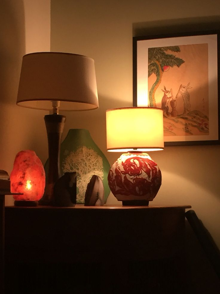 Coy fish lamp - made from old vase and recycled lamp parts.