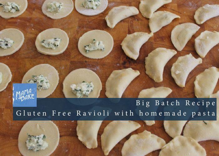 Gluten Free Ravioli!  Big Batch! Home Made Pasta!