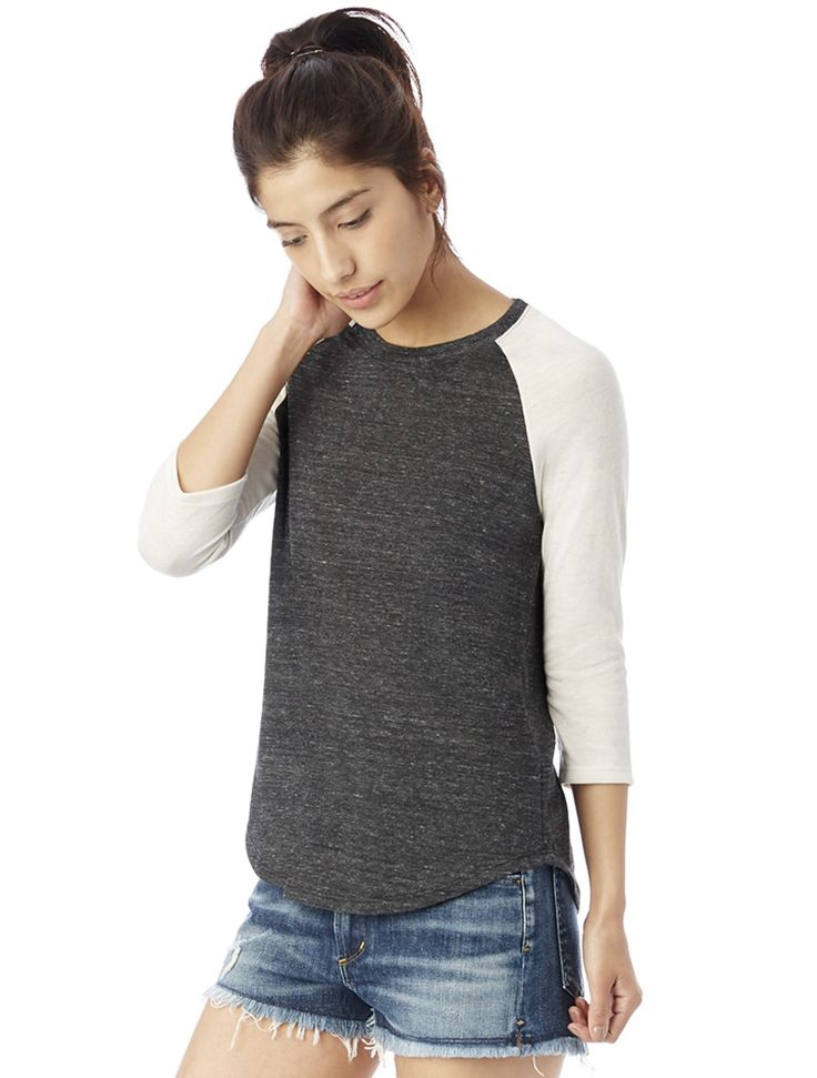 A men's inspired baseball tee made to fit for women. Crafted in our soft Eco Jersey for ultimate comfort and casual look.