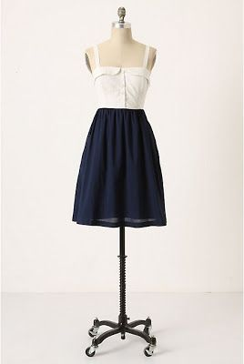 My twist on a navy and white dress and a collar band tutorial