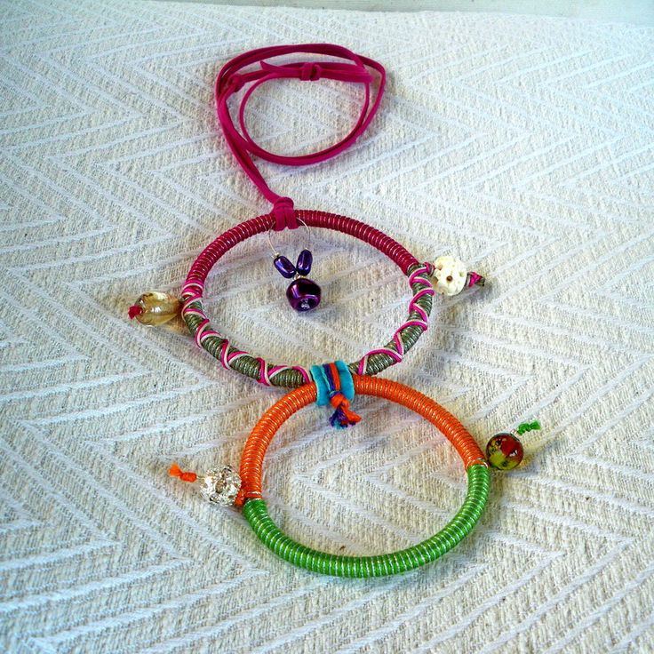 """Summer 2013 Casual collection """"Casual Necklaces"""" Series Circles of life twin-colorful. A necklace you can't miss."""