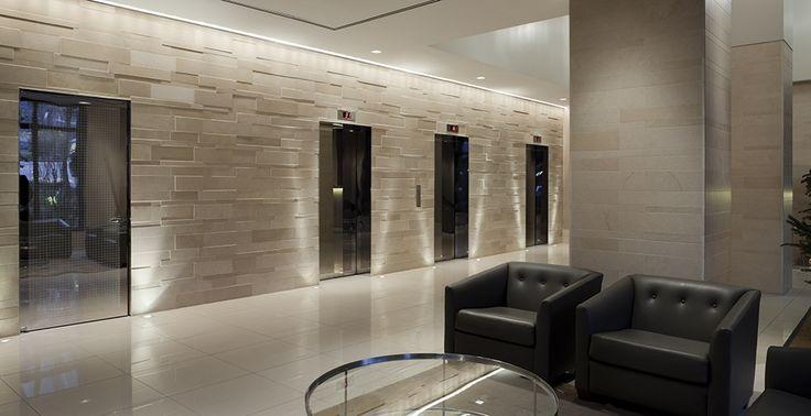 Limestone  Elevator Lobby  TOWER TEXTURES  Elevator