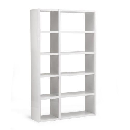Alinéa Lorena Grande étagère design 10 cases blanche x124.5x206.0x35.0 - pas cher Achat / Vente Buffets, chiffonniers - RueDuCommerce
