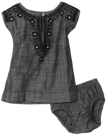 Tea Collection Girls Infant Corzo Chambray Dress (oh my!)