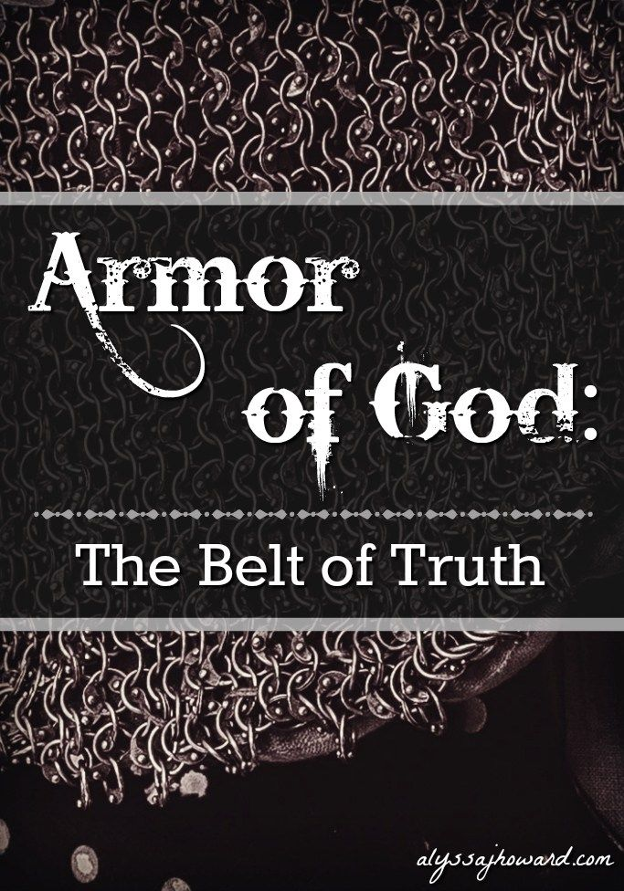 We have a very real enemy, which is why Paul tells us to prepare by wearing the armor of God – including the belt of truth. The truth of God doesn't just set us free. It helps us to defend ourselves against the lies of this world.