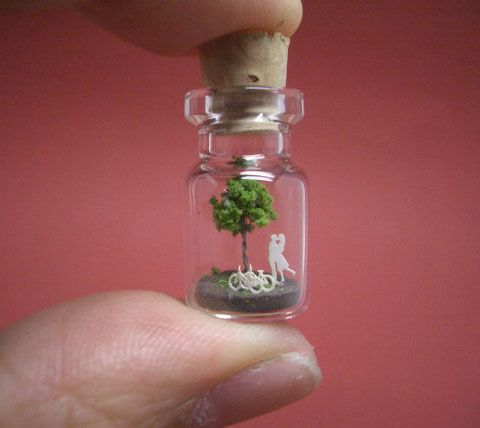 Magical tiny world in a bottle. This would have been my favorite thing in whole world as a little girl