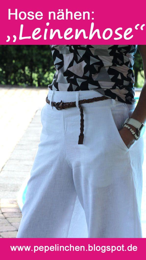 Leinenhose nach einem Schnitt aus der Burda-Style genäht....