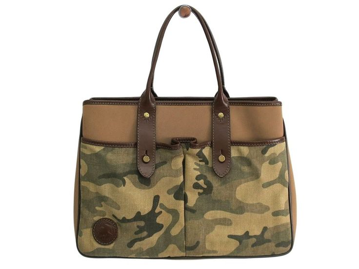 Auth HUNTING WORLD Tote Bag Canvas/Leather Beige/Khaki/Brown (BF108229)  | eBay