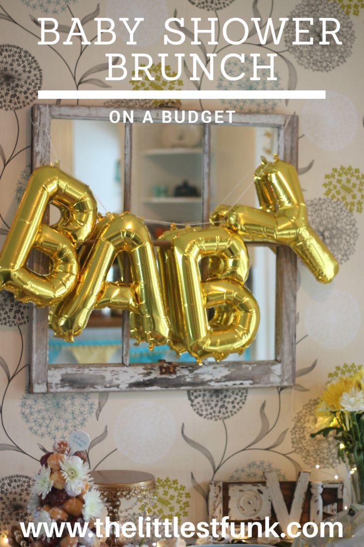 Baby shower Brunch (on a budget) #babyshower #brunch