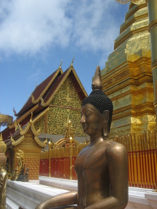 One of the temples I visited near Chiang Mai