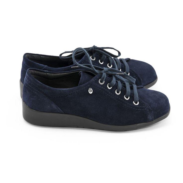 Pump Sneaker  Boots Damen 39 Ara Dunkel Blau Leder Neu Schön!