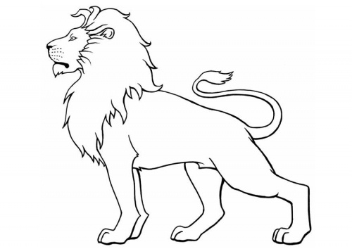 the outline of a lion with a quote or something going through it