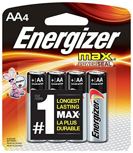 https://bags.fatekey.com/product/energizer/ 1 package of 4 AA long-lasting alkaline batteries. Locks in power for up to 10 years for trustworthy back-up energy. Keeps your devices safe from damaging leaks.