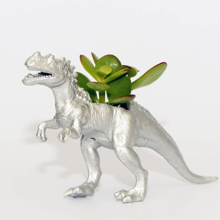 ceratosaurus dinosaur planter with plant by dingading terrariums | notonthehighstreet.com