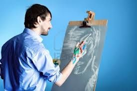 artist painting on canvas - Google Search