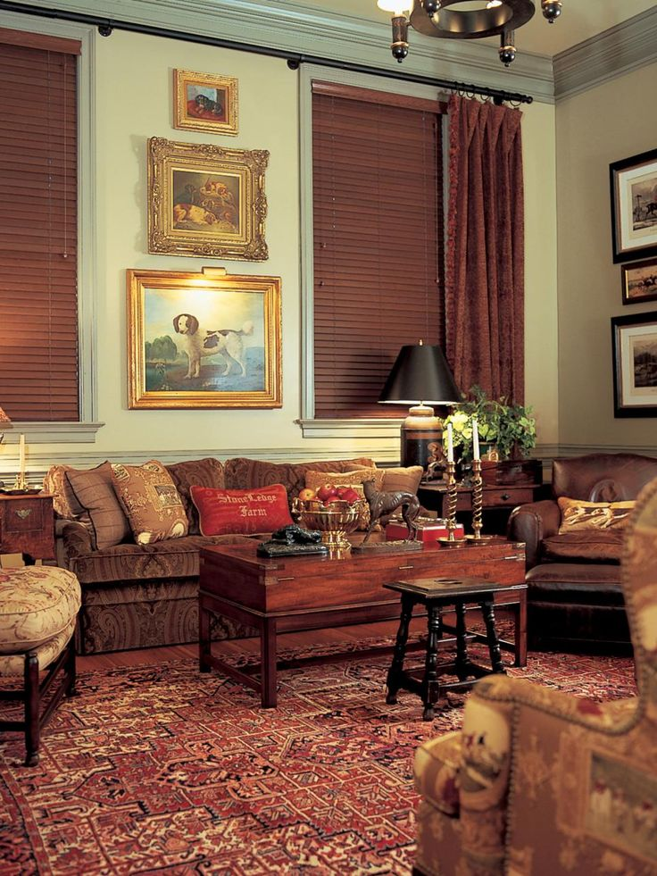Warm Tones Of Brown Create A Cozy Living Room With A