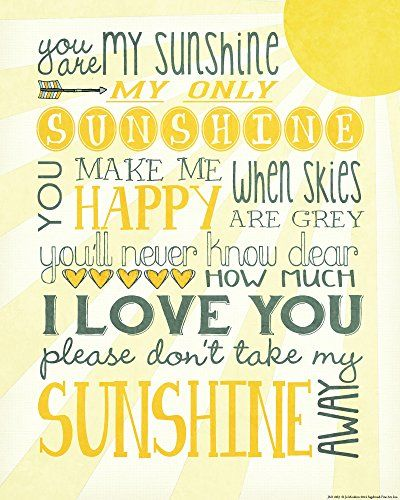 Swing by and print or save a copy of this free You Are My Sunshine printable! A favorite lullaby that makes everything better, right?