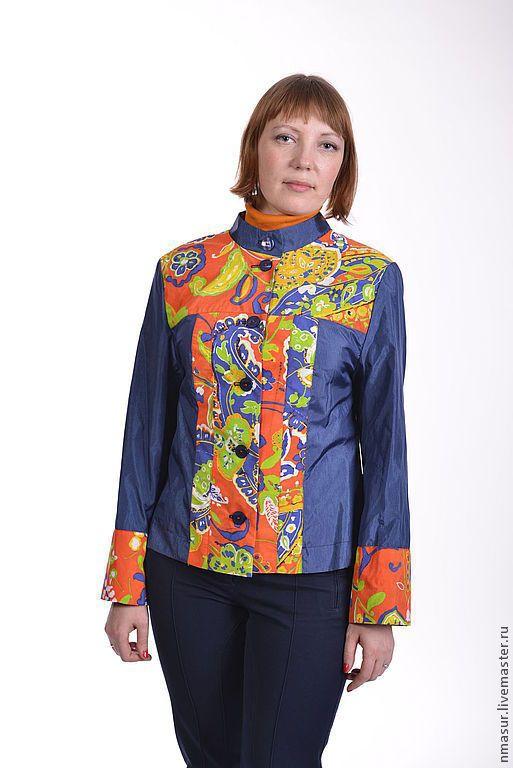 """Купить Ветровка """"Яркие краски"""" - цветочный, ветровка, весеннее настроение, весенняя мода, весенняя одежда"""