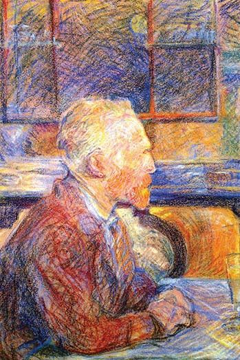 Portrait of Van Gogh. Henri de Toulouse-Lautrec (24 November 1864 - 9 September 1901) was a French painter, printmaker, draftsman, and illustrator, whose immersion in the decadent and theatrical life