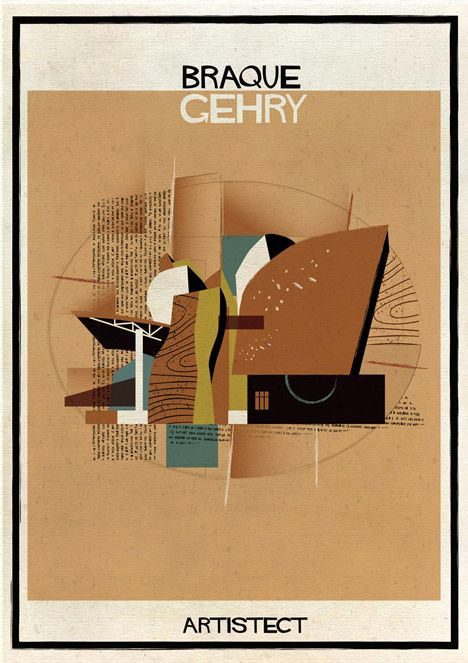 Federico Babina inserts 20th century architecture into famous artworks