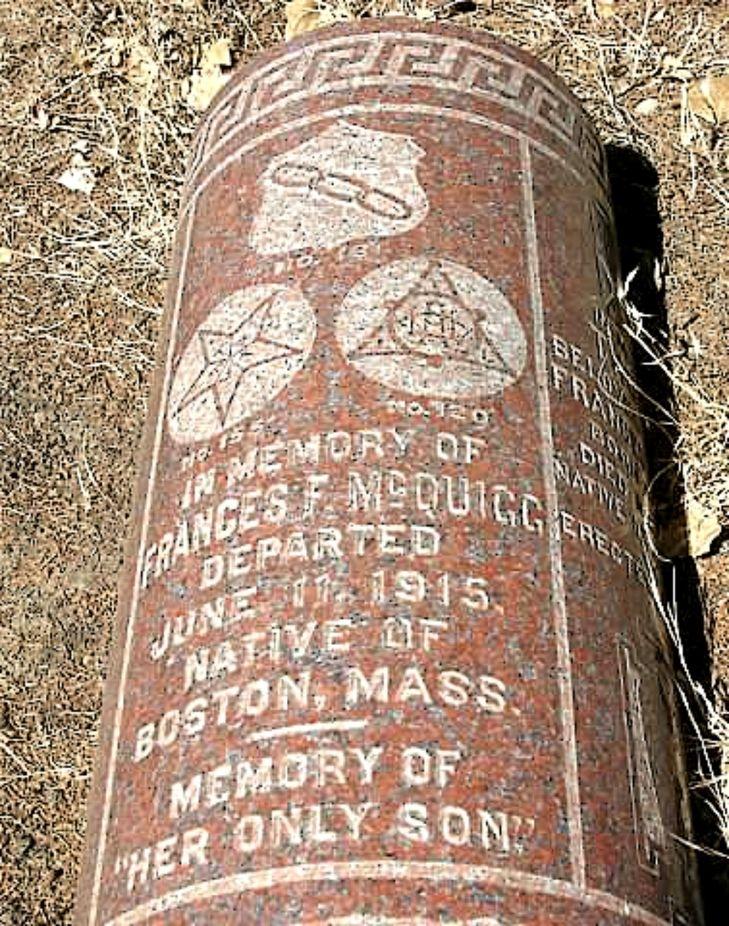 Fallen Masonic Grave Marker