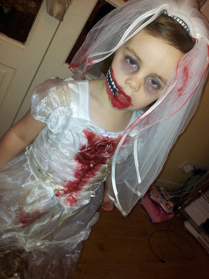 How To Make A Zombie Bride Halloween Costume The Blue Haired Girl -6251