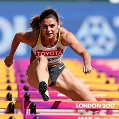 Women's 100m hurdles qualifier at the IAAF World Championships in London