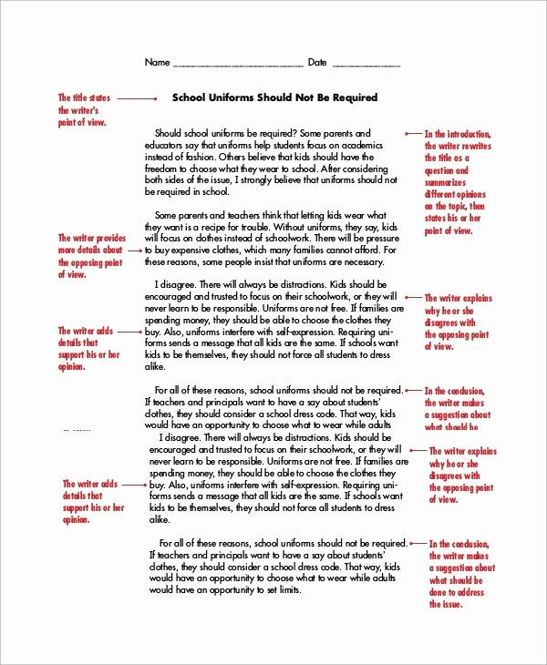 Persuasive Essay Example For College Inspirational 8 Writing Text Essays