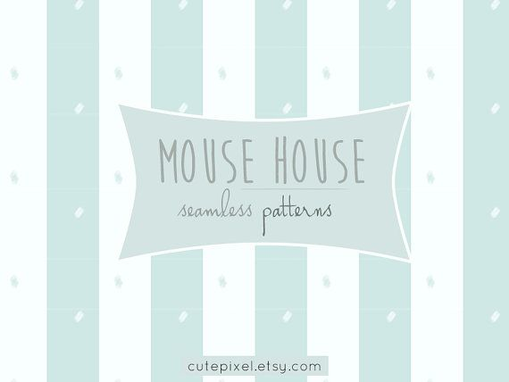 cute mouse house patterns