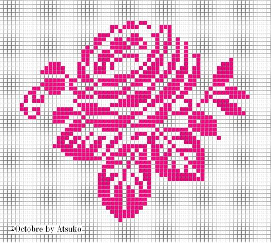 Free rose cross stitch pattern #stitching #floral