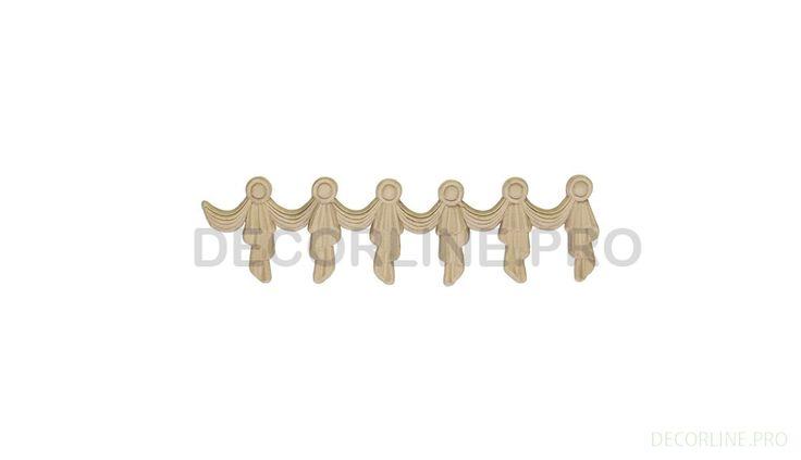ОРНАМЕНТЫ из древесной пасты OR-49 Размер/Size: 60x220x10. Резной декор из древесной пасты, древесной пульпы, полимера, полиуретана, ППУ, МДФ, прессованный декор, декор из массива, декор из дерева