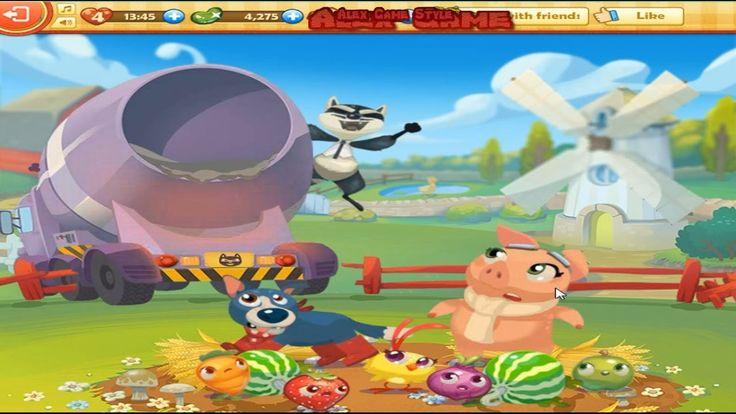 Farm Heroes Saga Level 10 Only 3 StarS Raccoon (Уровень 10)