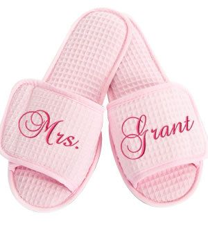 Personalized Embroidered Spa Slippers Bride, Maid of Honor, Bridesmaids, Mother of Bride, Mother of Groom Monogram Gifts