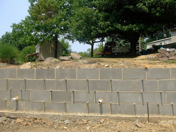 building a cinder block retaining wall - Google Search