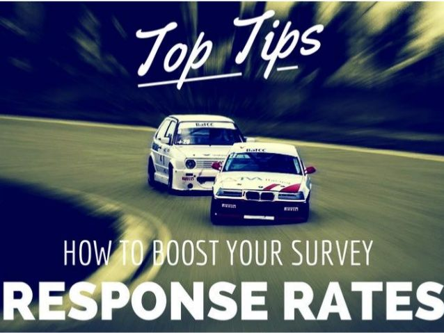 How to Boost your Online Survey Response Rates by josiegetsmart via slideshare