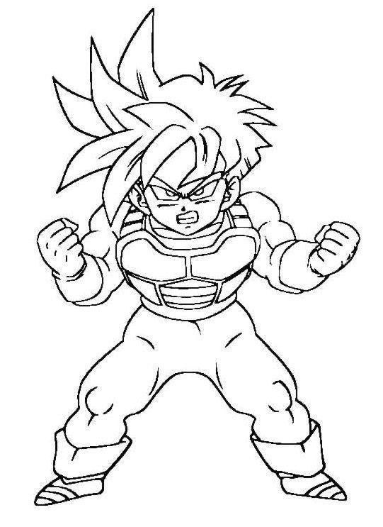 Dibujos De Goku Para Colorear Faciles Dibujos De Goku Para