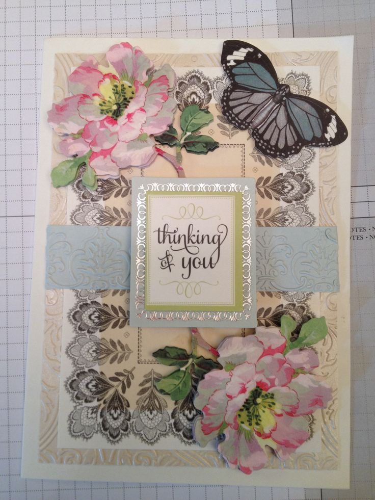 Thank you card - Anna Griffin supplies