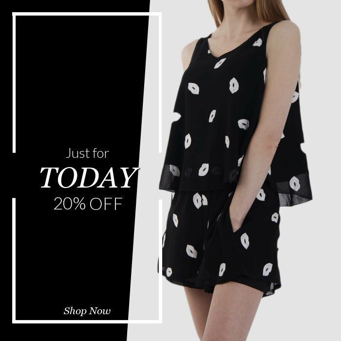 Today Only! 20% OFF this item.  Follow us on Pinterest to be the first to see our exciting Daily Deals. Today's Product: Chiffon Swing Top & Shorts Co-Ord Set With Lips Embiordary Buy now: https://small.bz/AAe7fQo #musthave #loveit #instacool #shop #shopping #onlineshopping #instashop #instagood #instafollow #photooftheday #picoftheday #love #OTstores #smallbiz #sale #dailydeal #dealoftheday #todayonly #instadaily
