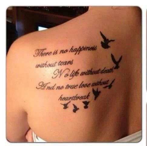 Meaningful Tattoo Quotes on Back - Bird Tattoo for Girls